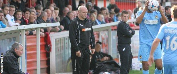 Southport manager Gary Brabin
