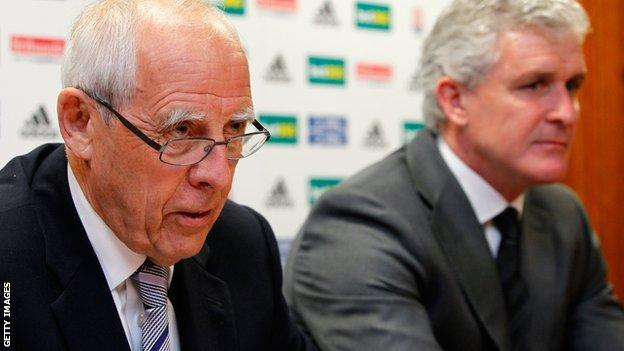Peter Coates (left) and Mark Hughes