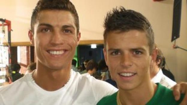 Ben Greenhalgh (right) and Cristiano Ronaldo