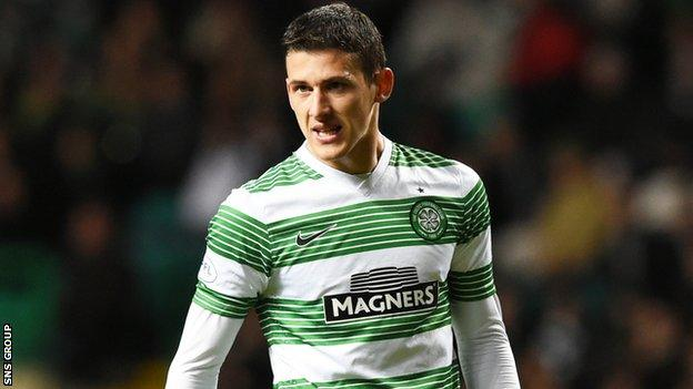 Aleksandar Tonev played in Celtic's 1-0 win over Partick Thistle