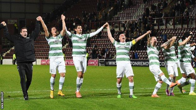 Celtic were 4-0 winners at Tynecastle on Sunday