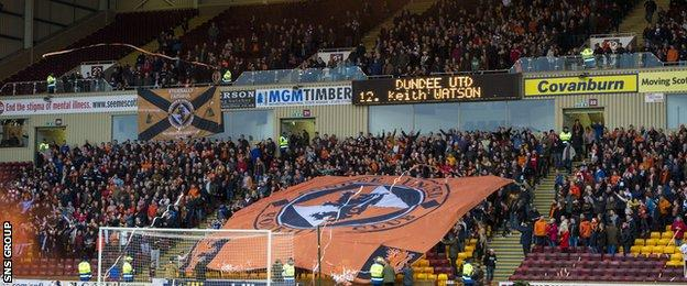 Dundee United took around 2,000 fans to Fir Park