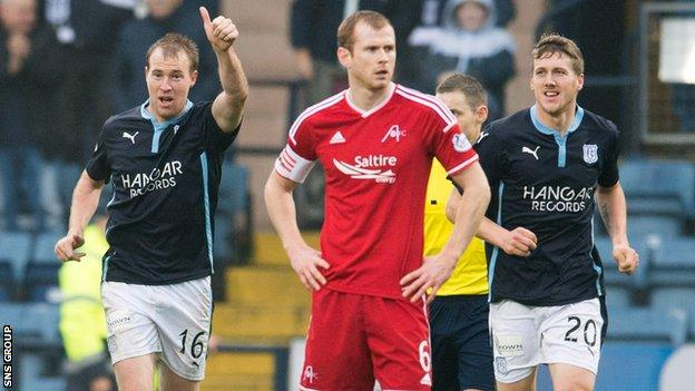 Dundee kicked off the Scottish Cup fourth round with a 2-1 win over Aberdeen