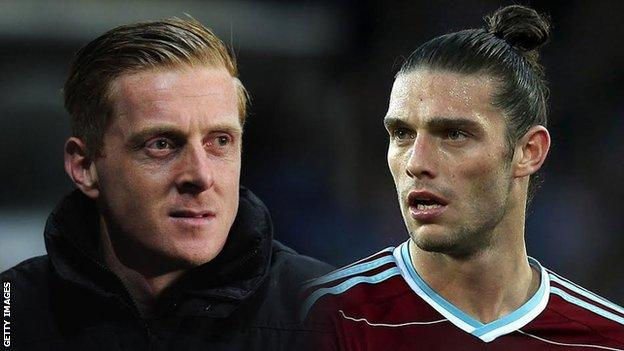 Garry Monk and Andy Carroll