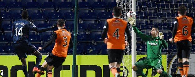Darren Maatsen hammered in a late goal as Ross County threatened to come back from three goals down.