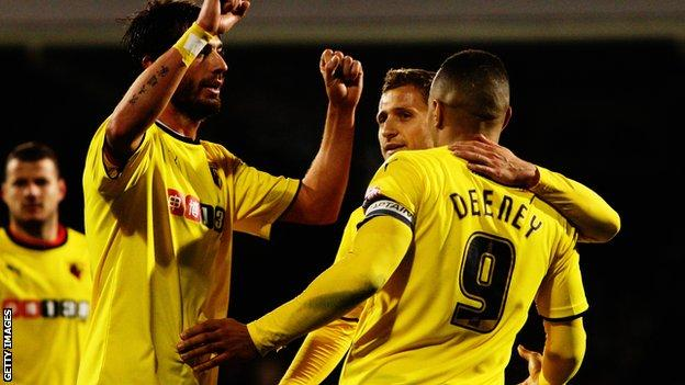 Tory Deeney's treble took his tally to seven for the season