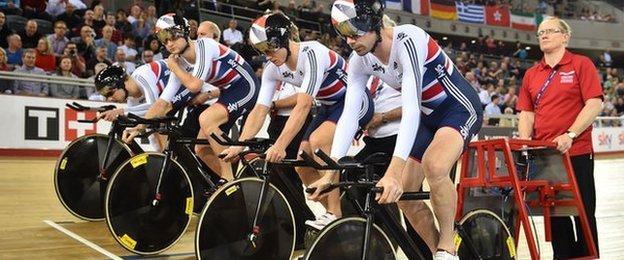 Great Britain's men's pursuit team