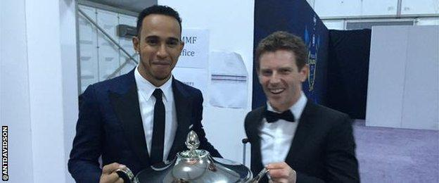 Lewis Hamilton and Anthony Davidson