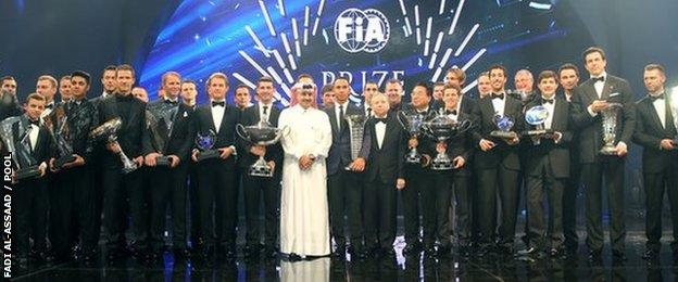 FIA end of season award winners
