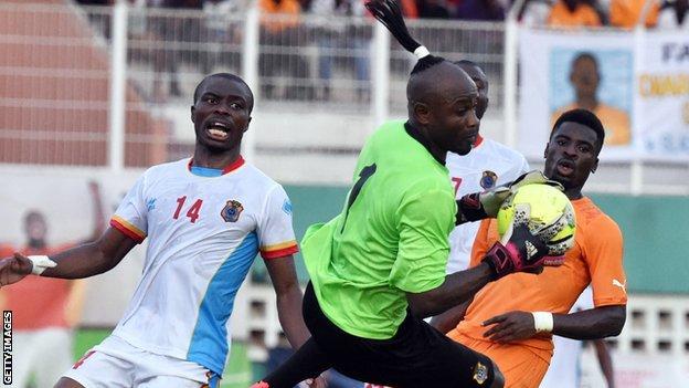 DR Congo goalkeeper Robert Kidiaba