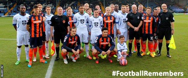 Bury and Luton players together