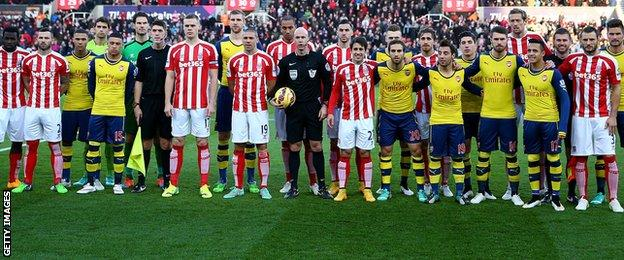 Stoke City with Arsenal