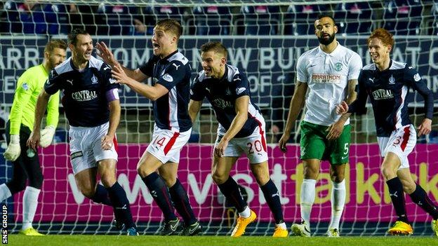 Falkirk knocked in a last-minute goal for victory