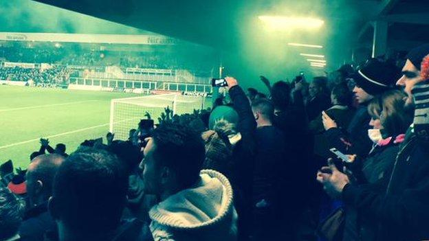 Jonathyn Quinn captures the celebrations in the Blyth end