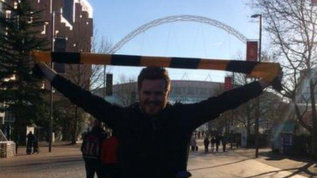 Maidstone United Steve McCaskill at Wembley Stadium