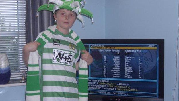 Yeovil fan Dan Bishop watching Final Score
