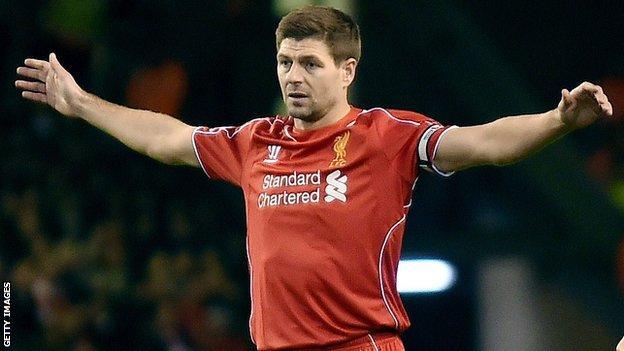 Liverpool captain Steven Gerrard