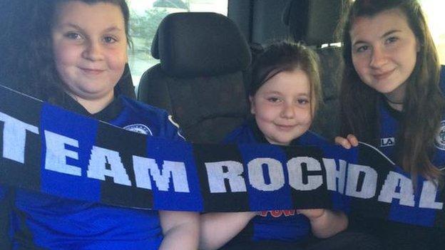 Franky Stubbs Rochdale fans