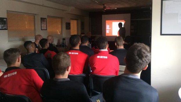 Cheltenham manager Paul Buckle pre-match presentation