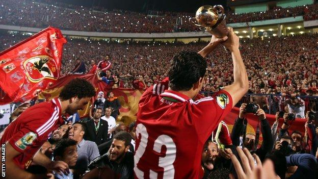 Al Ahly celebrate winning the Confederation Cup