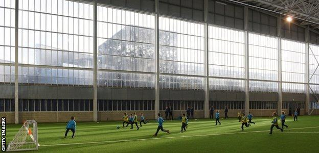 Manchester City: Youngsters train at the new Performance Centre