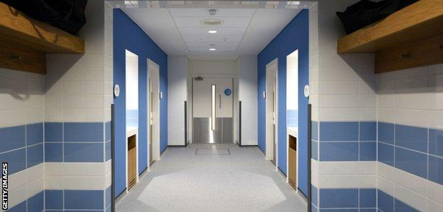 Manchester City: Changing rooms at the new Performance Centre