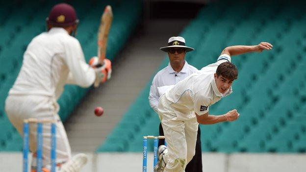 Sean Abbott in action for New South Wales