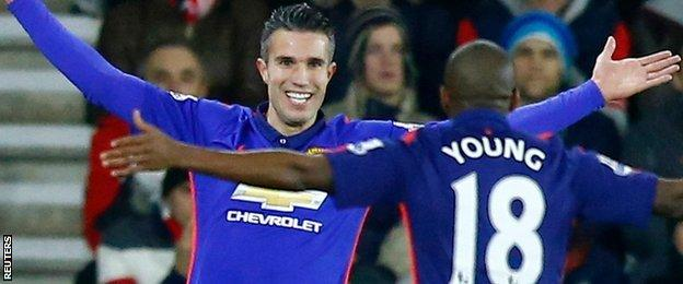 Robin van Persie and Ashley Young