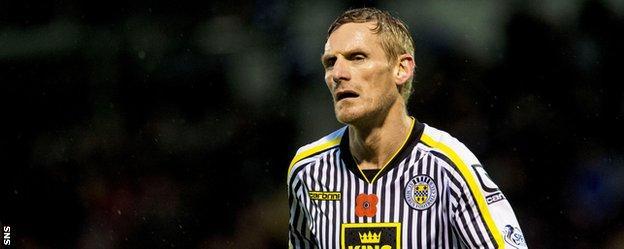 St Mirren player-coach Gary Teale