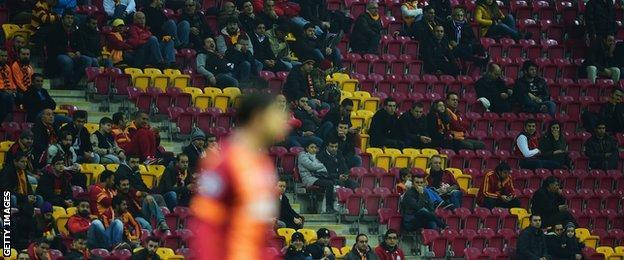 Empty seats at Galatasaray