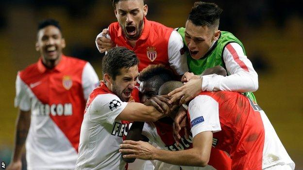 Monaco celebrate beating Zenit