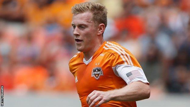 Andrew Driver in action for Houston Dynamo