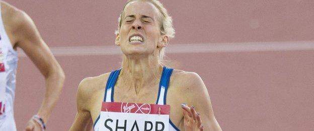 Team Scotland star Lynsey Sharp gave absolutely everything to collect silver in the 800m