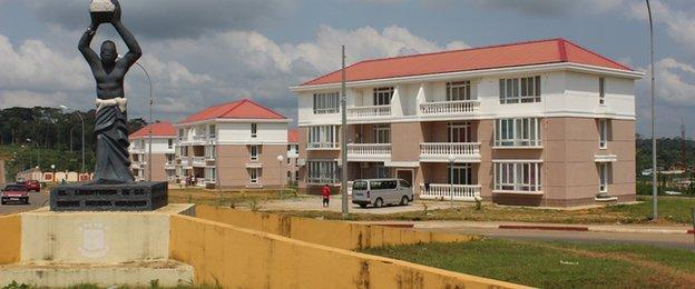 Social housing in Ebebeyin