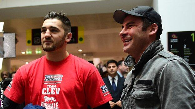 Nathan Cleverly and Joe Calzaghe