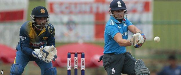 England batsman James Taylor hits out