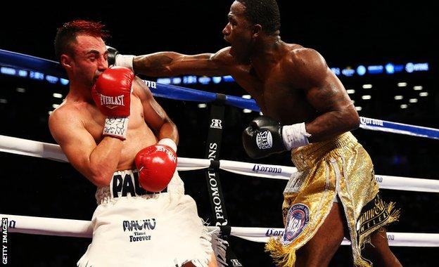 Paulie Malignaggi (left) and Adrien Broner dazzled with their trunks as well as their punches