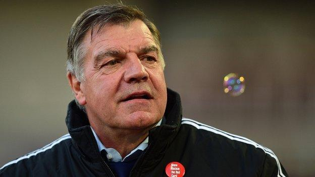 West Ham United boss Sam Allardyce looks on during the Premier League match between West Ham United and Newcastle United at the Boleyn Ground on 29 November, 2014