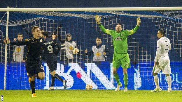 Celtic were again disappointing defensively in Europe as they conceded four goals to Dinamo Zagreb.