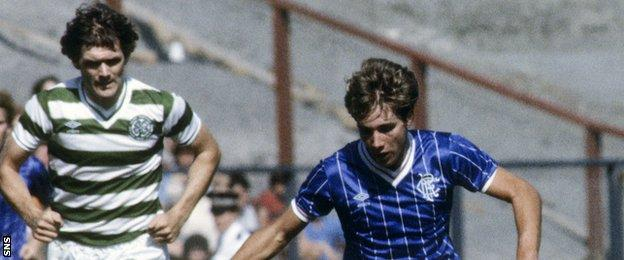 Roy Aitken and Ally McCoist in 1983