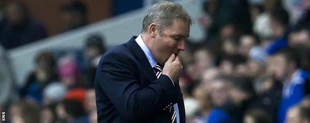Ally McCoist during his time as Rangers manager