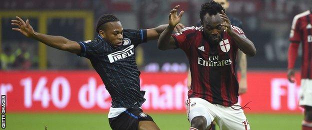 Michael Essien in action for AC Milan