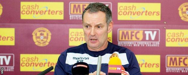 Motherwell caretaker manager Kenny Black