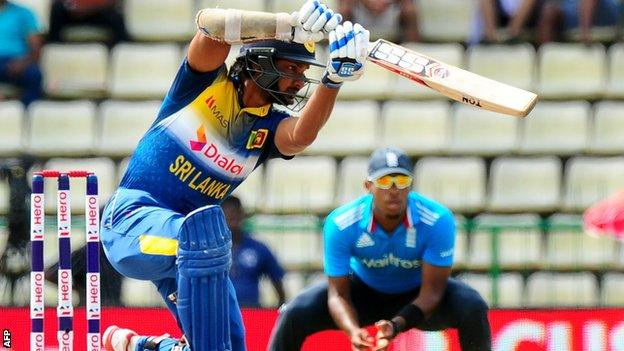 Kumar Sangakkara during his century for Sri Lanka against England