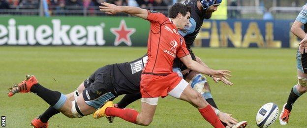 Sébastien Bézy in action for Toulouse against Glasgow Warriors