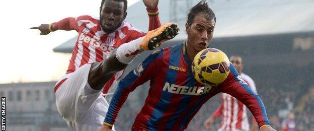 Marouane Chamakh and Mame Diouf