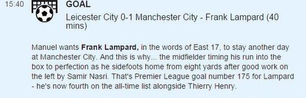 Lampard goal description