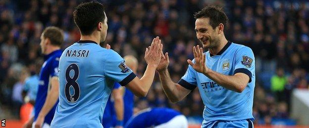 Frank Lampard and Samir Nasri