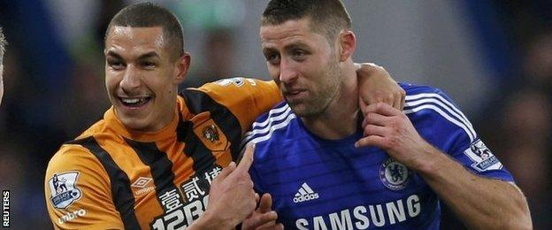 Jake Livermore and Gary Cahill