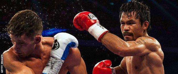 Manny Pacquiao retained his WBO welterweight title with a win over Chris Algieri in November